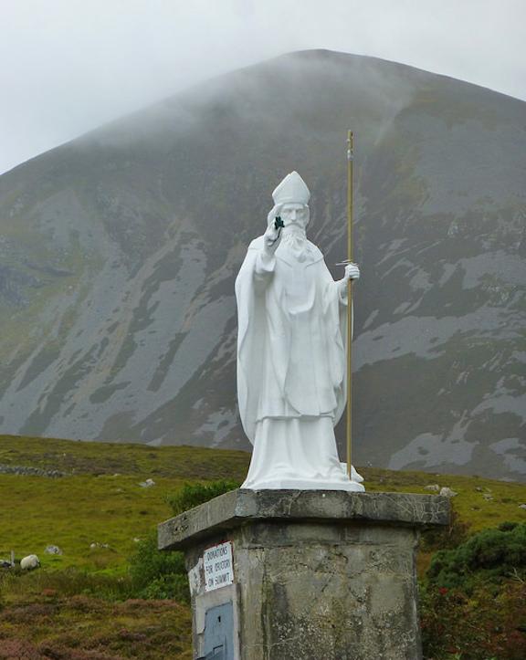 Croagh Patrick Statue 1