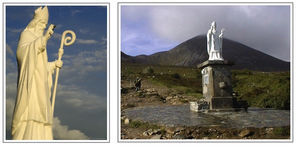 Croagh Patrick with Statue