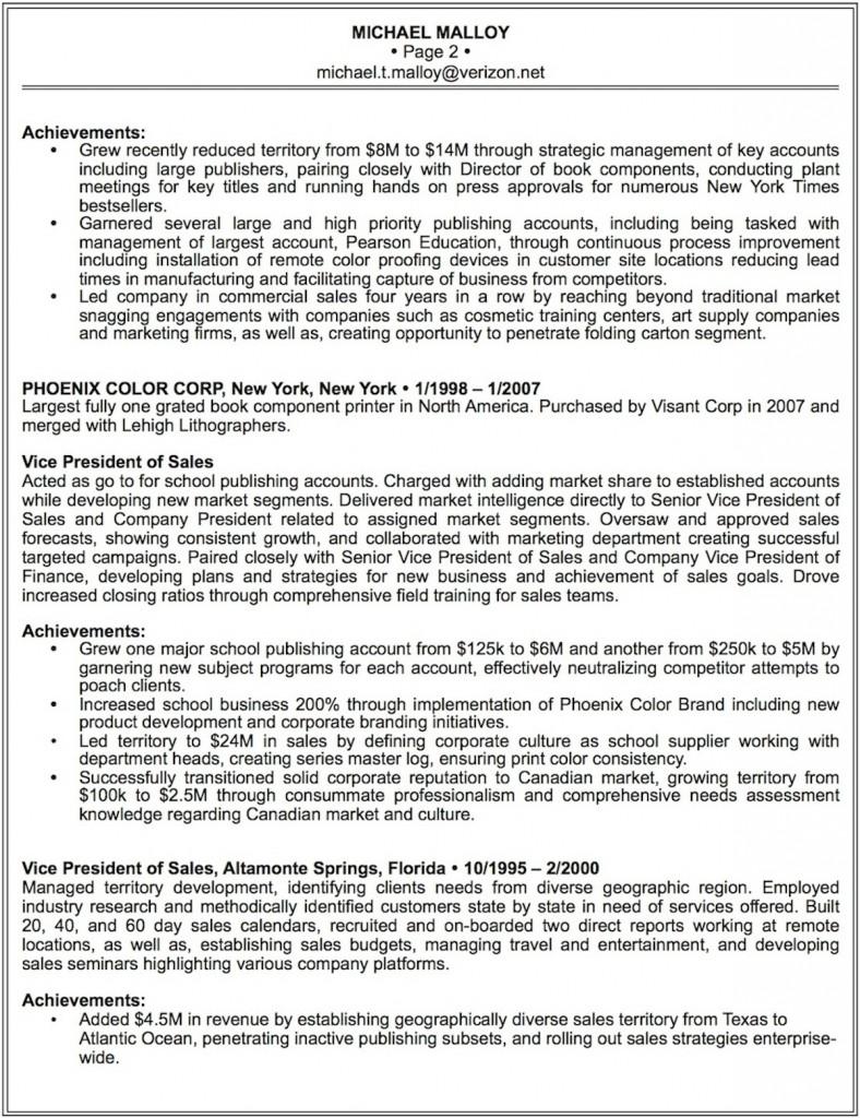 Malloy's Resume Pg 2