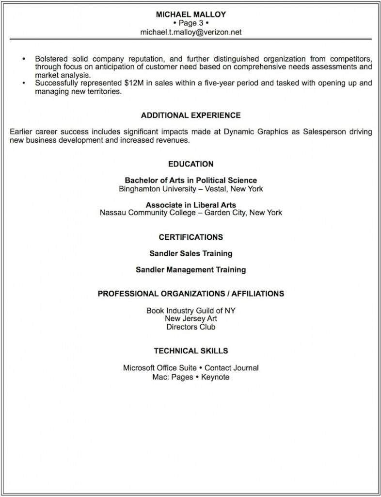 Malloy's Resume Pg 3